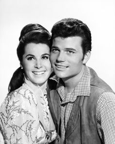 Patrick Wayne and Stephanie Powers, McLintock! Wayne Family, Stephanie Powers, Patrick Wayne, John Wayne Movies, Yvonne De Carlo, Actor John, Thing 1, Movie Couples, Old Hollywood
