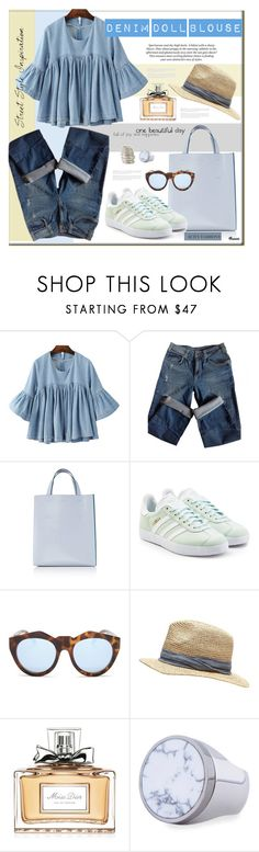 """""""Sin título #1720"""" by mussedechocolate ❤ liked on Polyvore featuring Sandro, Marni, adidas Originals, Le Specs, Witchery, Christian Dior, Givenchy and Shaun Leane"""