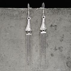 2016 Real 925 Silver New Fashion Statement Long Dangle Drop Earrings Women Fine Jewelry Tassel Earrings women wedding jewelry