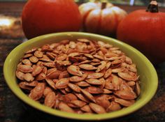 high protein snacks by Green Blender, pumpkin seeds