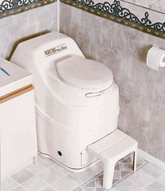 Sun-Mar Excel Self-Contained Composting Toilet. Easy to use, odorless operation.  Large capacity bio-drum.  Ideal for continuous or seasonal use.  Saves at least 70 gallons of water each day.  $1629
