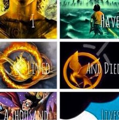 The Mortal Instruments, Percy Jackson, Divergent, The Hunger Games, Harry Potter, The Fault In Out Stars