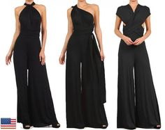 Convertible Jumpsuit Wrap yourself in a sure fire color of elegance and have designing your own style. Features a 90 strap that can be