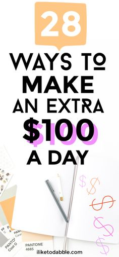 28 ways to make extra money when you need it in a pinch Ways To Earn Money, Earn Money Online, Online Jobs, Money Tips, Earn Extra Cash, Making Extra Cash, Extra Money, Make Easy Money, Make Money From Home