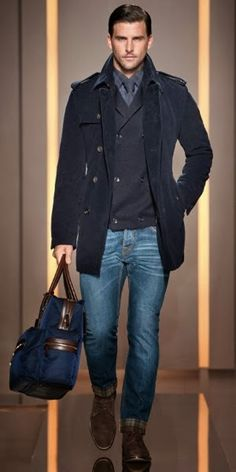 Stylish and casual winter outfit ideas for men 03 Fashion Mode, Look Fashion, Paris Fashion, Fashion Clothes, Runway Fashion, Men Clothes, Fashion Stores, Girl Fashion, Style Clothes