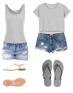 """""""Summer(not finished)"""" by xxabbeybearxx ❤ liked on Polyvore featuring Monki, RVCA, Velvet by Graham & Spencer, Havaianas, MELLOW YELLOW and Black Orchid"""