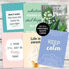 Beautiful, modern and inspiring! These quote cards can be used in so many ways in your bullet journal or planner. See our full range of printable quote cards on Etsy. #bulletjournal #bulletjournaling #artjournal #bujo #printablequotecards #quotecards #prettyquotecards #inspiringquotes #motivationalquotes #plannerdecorating #journalingprompt