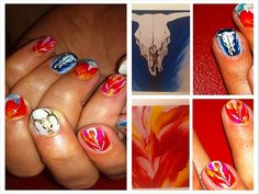 Georgia O'Keeffe nail art