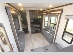 Keystone Raptor toy hauler 427 highlights: Below-Floor Garage Exterior TV King-Size Bed High-Top Table Theater Seating With the unique layout of. Raptor Toys, Fifth Wheel Toy Haulers, Garage Exterior, High Top Tables, Keystone Rv, Theater Seating, Electrical Wiring, King Beds, Countertops
