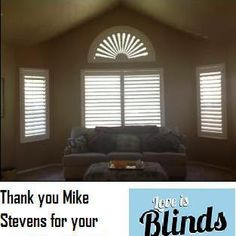 Shutters with a specialty shape.  budgetblinds.com