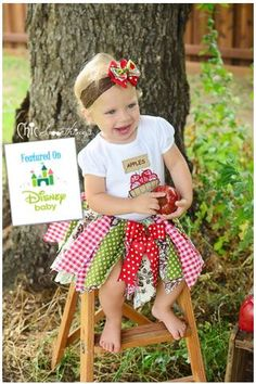Fabric Tutu Apple picking Shabby Chic Fabric by ChicSomethings, $32.00