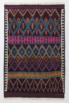 rug from Anthro - love the colors