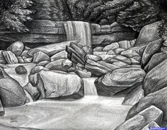 how to draw a creek
