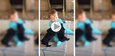 Les bisous de ces deux chiots font beaucoup rire ce bébé (Vidéo)
