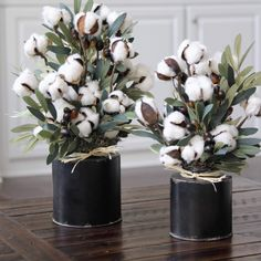 Farmhouse Decor~Cotton Anniversary Gift~Rustic Arrangement~Cotton and Olive Stems in a Black Canister Country Decor, Rustic Decor, Farmhouse Decor, Spring Home Decor, Fall Decor, Dried Flowers, Paper Flowers, Cotton Decor, Deco Floral