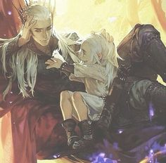 Thranduil and Legolas--I can't with this. Pinning again because I want to.