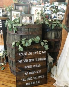 """But with Harry Potter quote, """"The ones who love us never really leave us, you can always find them in here. Cute Wedding Ideas, Wedding Goals, Perfect Wedding, Fall Wedding, Rustic Wedding, Wedding Ceremony, Our Wedding, Wedding Planning, Dream Wedding"""