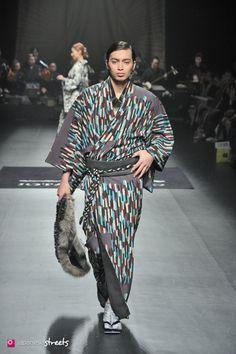 140319-7628 - Autumn/Winter 2014 Collection of Japanese fashion brand JOTARO SAITO on March 19, 2014, in Tokyo.