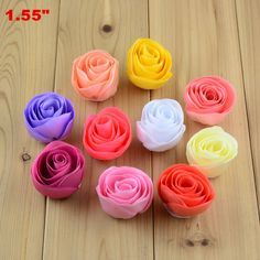 Express Free Wholesale 1000pc/lot 1.55 inch High Quality Handmade Rolled Tulip Flower Girl Headband Hair Floral Decoration TH207 #Affiliate