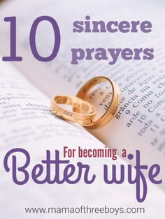 Sincere prayers for wives