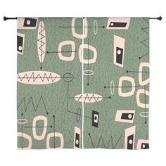 Mid-Century Atomic Abstract II Curtains