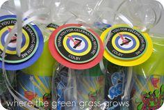 Laser Tag Goody Bag Tags by TheGreenGrassGrows on Etsy, $13.00