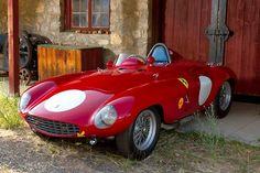 Cherry Red Ferrari 750 Monza Spyder Scaglietti Year 1954