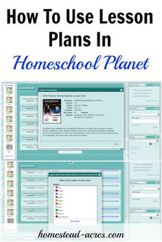 How to simplify your homeschool planning by using lesson plans with Homeschool…