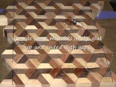 Making a 3D end grain cutting board #3 - YouTube
