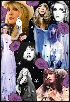 Stevie Nicks... Gypsy, Rock Star, Welsh Witch, Enchanted, High Priestess of Song. Her style is unique and beautiful