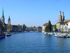 Zürich Limmat New York Skyline, Travel, Travel Advice, City, Summer Recipes, Traveling, Nice Asses, Viajes, Trips