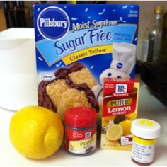 Simple sugar free lemon poppyseed muffins. Mix sugar free yellow cake mix, 3 eggs, 1/3 cup vegetable oil, 1 cup water, zest & juice of 2 lemons, 1 tablespoon of lemon extract, 4 drops yellow food coloring. Bake according to box. Voila!!!