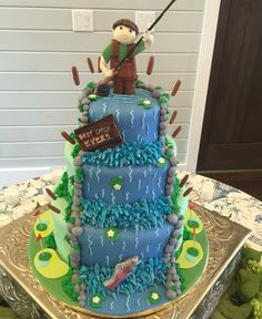 Fly Fishing and Golf grooms cake