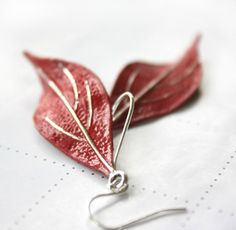 Leaf Earrings, Gift For Her, Gift For Girlfriend, Patina, Gift For Wife, Gift Ideas, Silver Earrings, Bridesmaid Jewelry by AmberSky on Etsy https://www.etsy.com/listing/240462307/leaf-earrings-gift-for-her-gift-for