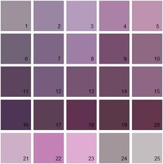 Shades Of Purple Paint i want to paint my room the 2nd on the left, it's not too dramatic