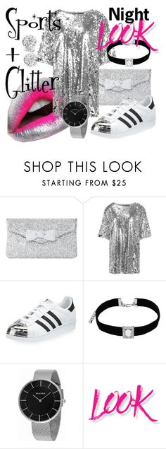 """""""Sports + Glitter"""" by emmmy88 ❤ liked on Polyvore featuring MAC Cosmetics, Dune, adidas, Kenneth Jay Lane, Skagen, NYX, Bling Jewelry, chic, polyvoreeditorial and polyvorefashion"""