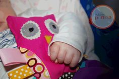 The Rubber Punkin: Owl Softie Ribbon Teether