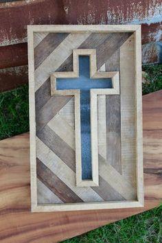 Rustic Handmade Cross wooden cross reclaimed by CashdanCraftsmen Wooden Pallet Projects, Pallet Crafts, Pallet Art, Woodworking Projects Diy, Wooden Crafts, Woodworking Tools, Wooden Crosses, Wall Crosses, Wooden Wall Art