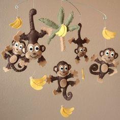 Image result for felt monkey baby crib mobiles