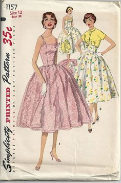 1950s Misses Sundress Spaghetti Straps Strapless by RoseCorners