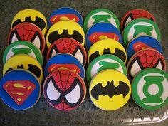 Superhero Icon Cookies