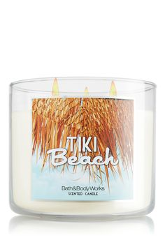 I have this scent throughout my house! Toasted coconut, vanilla musk & orchids make Tiki Beach the ultimate tropical resort Candle!  #bathandbodyworks