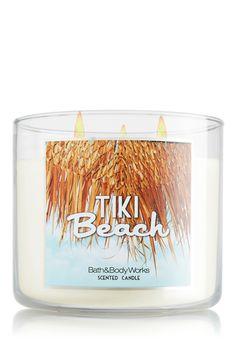 Toasted coconut, vanilla musk & orchids make Tiki Beach the ultimate tropical resort Candle! #BBWSpring #bathandbodyworks