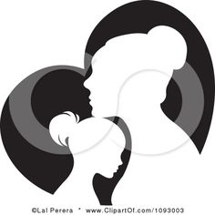 mother daughter drawing african mothers drawings clipart clip heart american daughters google mom cool silhouette blessed miss she today dark