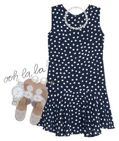 """""""wanna know who's account makes me say """"ooh la la""""? Read d"""" by econgdon ❤ liked on Polyvore featuring moda, MANGO, Jack Rogers, Honora ve Kate Spade"""