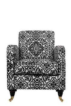 Black and white damask chair