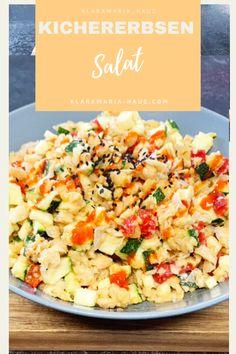 Kichererbsen Salat Zucchini, Sambal Oelek, Vegan Mayonnaise, Chickpea Salad, Little Kitchen, Oatmeal Cookies, Vegan Dishes, Pasta Salad, Potato Salad