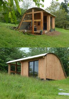 MorphPOD, a UK idea for tiny abod Tiny Cabins, Tiny House Cabin, Cabins And Cottages, Tiny House Design, Cabin Homes, Small House Plans, Building Design, Building A House, Backyard Sheds