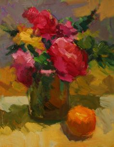 Kathryn Townsend - Flowers with Orange- Oil
