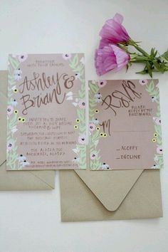 Hand painted invites